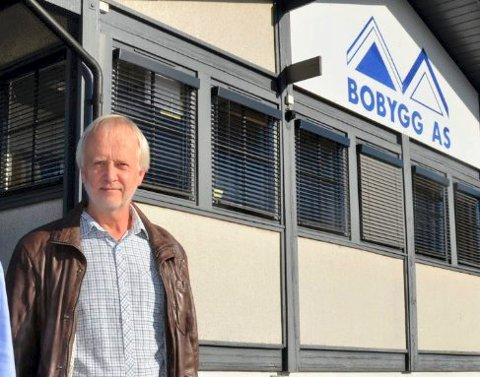 OPPBUD: –  VI ser ingen annen løsning enn å ta bedriften til skifteretten, sier daglig leder, styreleder og hovedaksjonær i Bobygg AS, Terje Saxe Christensen. Virksomheten holder til i Raveien 140.
