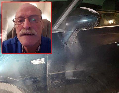 Karl Ringvoll håper den som bulket og skrapet bilen hans melder seg.