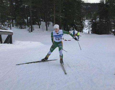 Fjerde plass: Jørgen Bertram Dyrdahl (15) kom på fjerdeplass i 5 km fristil. foto: Berger IL