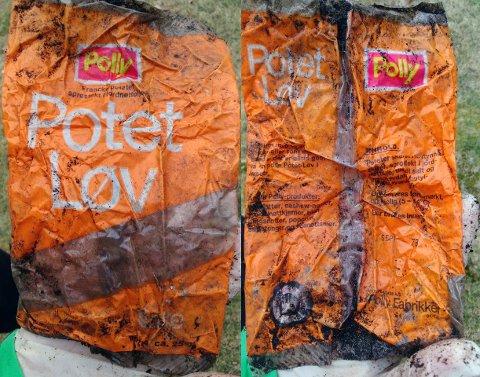 UTLØPT DATO: Potetløv, best før september 1978. For de nostalgiske: Polly ble til KiMs på 90-tallet. Polly Skien ble for øvrig avviklet i 1996, ifølge KiMs.no.