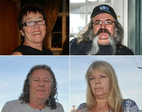 FRA KRAGERØ: Anne Kristin Isaksen (øverst t.v.), Henning Aabøe Bentsen, Jan Bjørndal (nederst t.v.) og Berit Bjørnsen omkom i ulykken på Rjukan søndag.