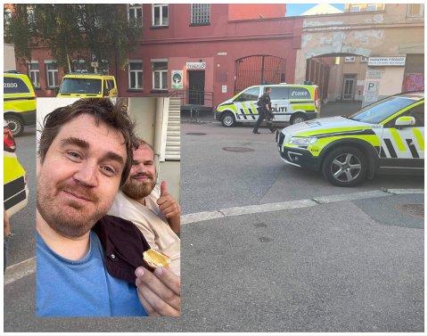 DRAMATISK: Skuespiller Amund Sigurdssønn Karlsen og filmfotograf Jostein Vedvik startet eget detektivarbeid etter at kamerautstyr ble stjålet. Det endte med en dramatisk politiaksjon.