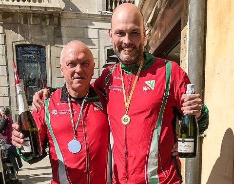 Hugo Christensen og Robert Fredriksen fikk belønning for sterke innsatser