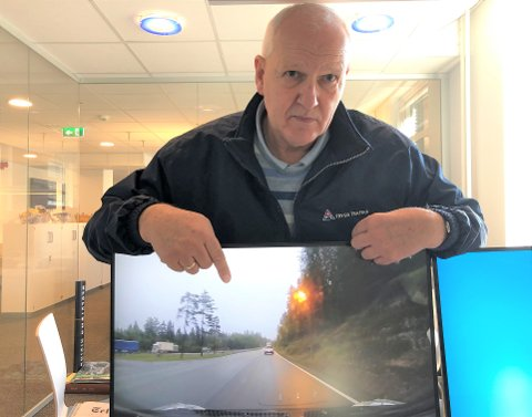 DETTE ER ILLE: -  Vi skal som medtrafikanter ikke godta at noen kjører villmann som dette, sier tidligere UP-sjef Tor Egil Syvertsen som nå er rådgiver i Trygg Trafikk.