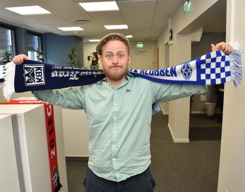NERVØS JOURNALIST: Joachim Constantin Høyer jobber i Tidens Krav, men heier på Molde. Han kjenner på kampnervene av flere grunner.