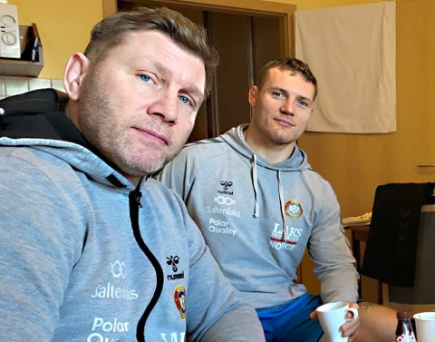 Både Eren Gjægtvik (t.v.) og Felix Baldau har testet positivt for korona.