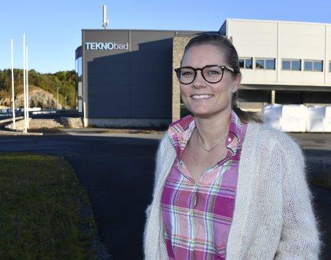 Flytter: Daglig leder Ellen Knudsen ser frem til å flytte Teknobad AS fra Krøgenes til Grenstøl i løpet av juni.