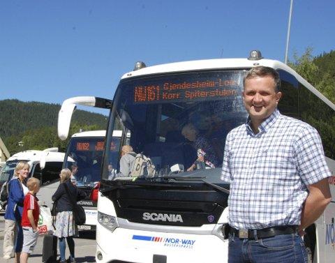 I gang: Helge Kvame i JVB melder at sommerruta er i gang til Gjendesheim.