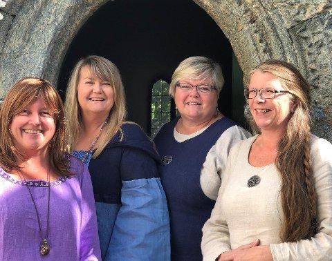 Den kvartetten damer håper på fullt hus når de byr på en musikalsk reise i blant annet middelaldermusikk i Utstein kloster på søndag.