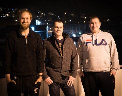 Nordkapp MDG: Raymond Karlsen, Tor Johansen og Emil Bjørgve Olsen.