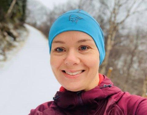 JOGGETUR: Kristin Maurstad på nyttårsafta, den siste joggeturen i 2019.