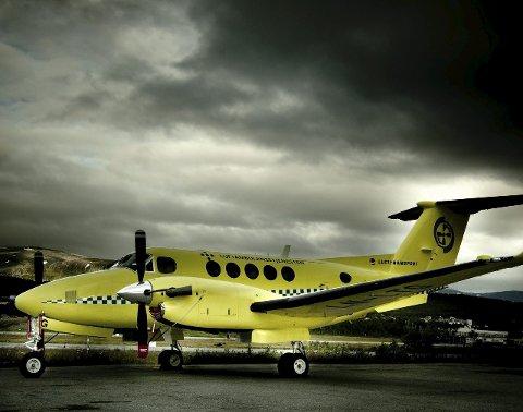 Beech 200: Dette er flytypen Luftambulansen bruker; en Beech 200-maskin.foto: lufttransport AS