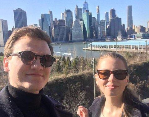 LOCKDOWN: Denne dagen stengte New York ned. Venneparet Henrik og Hannah turte ikke ta t-banen denne dagen, og gikk derfor rundt. Dette var før det ble påbudt med munnbind.