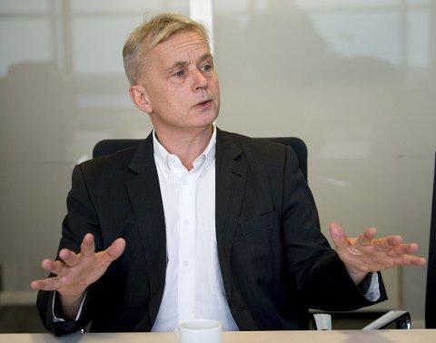 STERK I TROEN: Knut Storberget mener universitetsstatusen er viktig for å bygge det nye fylket. –  Nå må vi holde oppe trykket og ta igjen det lille som skal til for å komme i mål, sier han.