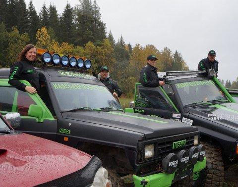 MUDRUNNERS: Fra venstre: Manja Kornfeld, Guro Aine Kværnstrøm, Kolbjørn Hofslien og Glenn Kristiansen.