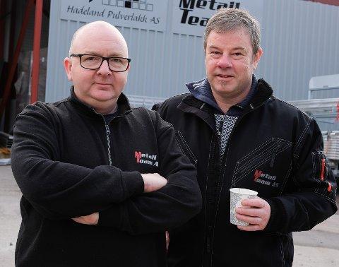 OVERTAR: Nils Martin Rundhaugen og Gunnar Gisleberg hos Metall team i Mohagen. Nå overtar Rundhaugen og Tor Erik Kristoffersen selskapet.