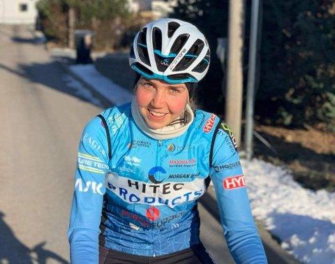 DEBUT: Ann Helen Olsen (23) har unnagjort sin internasjonale proffdebut. Utover våren venter flere sykkelklassikere - med haldenseren på startstreken.