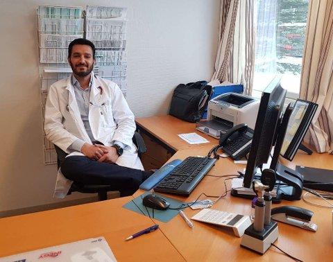 31 år gamle Arsum Aziz starter som fastlege ved Løken legekontor 11. mars og overtar pasientene til Are Hansen, som slutter 1. mars. Foto: Privat