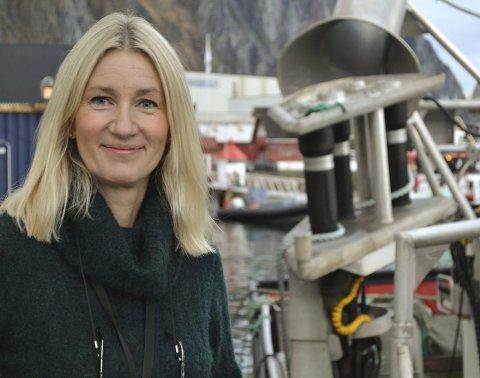 Toppsjef: Elisabeth Fredriksen er ny toppsjef i DNB, med kontorsjef Svolvær. – Fiskeriene er fortsatt i omstilling, og næringslivet i Hålogaland tjener gode penger. Men vi skal også takle nedgangstider, sier hun. Foto: John-Arne Storhaug.