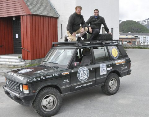 Måtte delta: Da Frederik Nehls og Nikolaus Schoèrmèr så reklame for «Baltic Sea Circle» tenkte de at de måtte delta. Onsdag var de i Lofoten for fest og møtepunkt på Gimsøy.