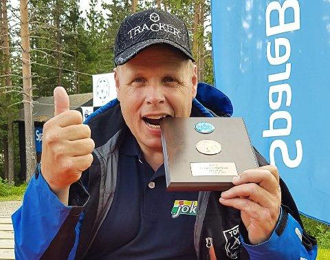 GOD SOM GULL: Aslak Bakke skjøt til en overraskende bronsemedalje under finalen i årets NM i elgskyting.