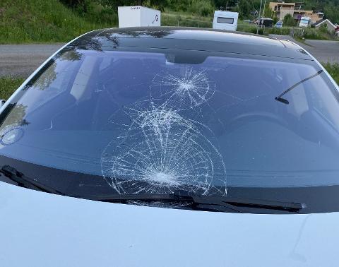 KNUST: Slik så bilen ut etter hærverket