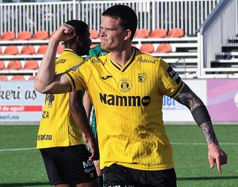 1-1. Mathias Nygaard headet inn utlikningen åtte minutter på overtid mot Sandnes Ulf.