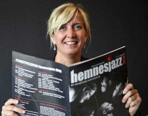 Stolt av programmet: Festivalsjef for Hemnesjazz Marte Præsteng ser fram til festivalen som går av stabelen neste uke, med et program fullspekket av kulturelle arrangement for både unge og voksne.