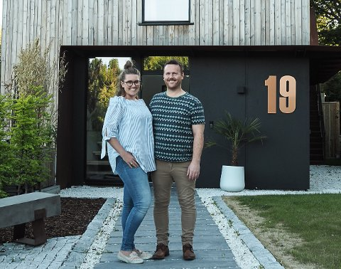 FLYTTER FRA OSLO: Kristin og Borgar Lindhjem selger drømmehuset og etablerer seg i Vestfold. Se flere bilder av «Norges vakreste hjem» litt lenger ned i saken. Foto: Privat
