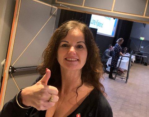 FORNØYD: Liv Thon Gustavsen fra Årnes har gode muligheter for å bli stortingsrepresentant i valgperioden 2021-25.