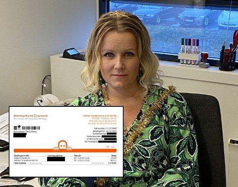 Tanja Klæbo Schumacher fikk sjokk da hun så at nettleien til Skagerak utgjorde 86 prosent av strømregningen for november.