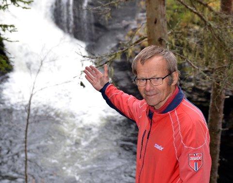 Ei perle: Jan Gausemel meiner Stampefossen i Vinda tek seg godt ut og sjølv brukar han turterrenget rundt Løkjisskogen mykje.