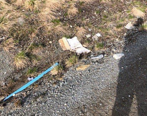 Per Øverby hadde en rekke bilder av søppel som flyter.