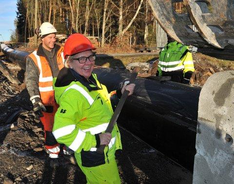 ARBEIDERORDFØRER:Ordfører Hilde Thorkildsen slår et sleggeslag for et forenet avløpsrør.