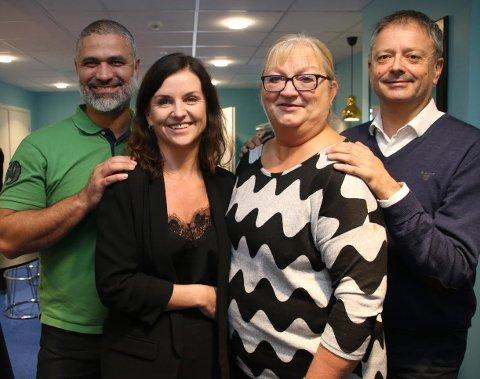 Fra venstre: Francois Elsafadi fra Lean Business, Anita Skog, Brit-Elin Paulsen og Arne-Morten Knutsen. Foto: Privat