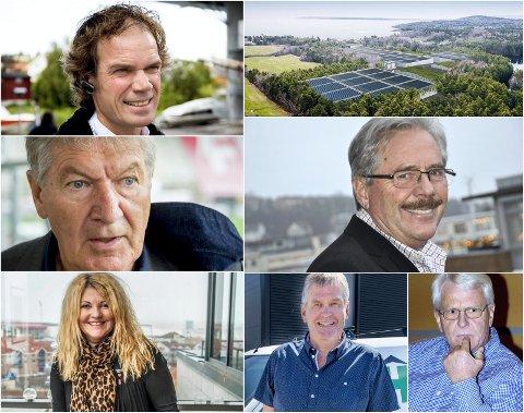 SATSER I USA: Bård Eker, Arne Erik Olsen, Edgar Bøckmann, Rita Holberg, Håkon Hansen og Gunnar Bøckmann investerer i laksefarm.