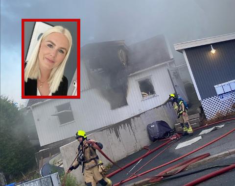 NABO: Avstanden mellom trehusene er liten i denne delen av Glemmengata. Martine Rauken bor i bygården til ved siden av huset som brant.