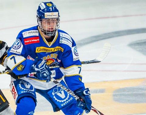 FOR NORGE: Sondre Ahlsen, haldenser i Sparta, er en av seks haldensere som er tatt på ulike ishockeylandslag.