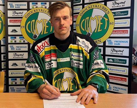 LANGTIDSKONTRAKT: Håkon Vaglen har søndag kveld skrevet en 4 års kontrakt med Comet.