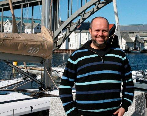KLAR FOR PUBLIKUM: Odd-Steffen Garvik er ansvalig for arrangørstaben rundt Haugesund Båtmesse i helgen. Arkivfoto: Ane Undhjem
