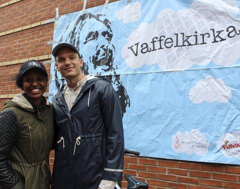 Glede: Mahlet Mazengia og André Zachariasson fra bønnesenteret på Levanger var med på å arrangere felleskirkelige Helgelandskonferanse. foto: Benedicte Wærstad