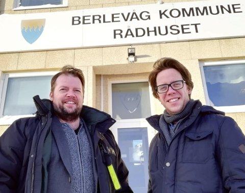 VIL HA ENGASJEMENT: Ordfører Rolf Laupstad (Ap) og rådmann Jørgen Holten Jørgensen vil ha mer fart på lokaldemokratiet. De frykter kun ei valgliste ved kommunevalget, nemlig Ap. Ifølge Laupstad vil de veldig gjerne bli utfordret.Foto: Privat