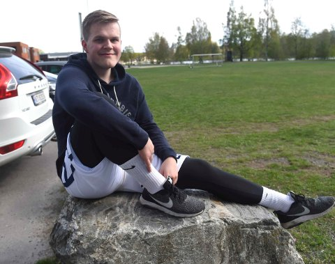 FINALEKLAR: Kristian Groth Eggar og Miners er klare for finalen i U 19-NM i Idrettshallen søndag kveld.
