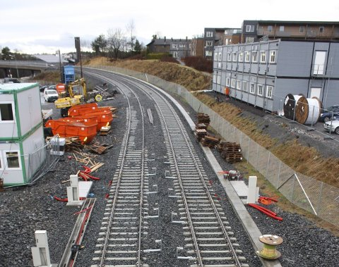 NYE SPOR: Nytt spor ligger snart klart til delåpning av T-banens linje 3 mellom Helsfyr og Bøler (bildet).