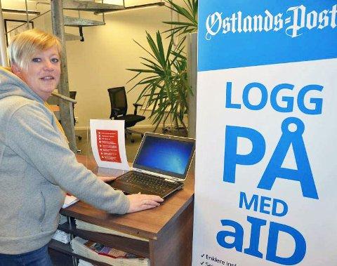 Ta gjerne kontakt: Beate Bang Edlund i ØP står klar til å hjelpe til med innlogg på aID hvis behov. Arkivfoto.