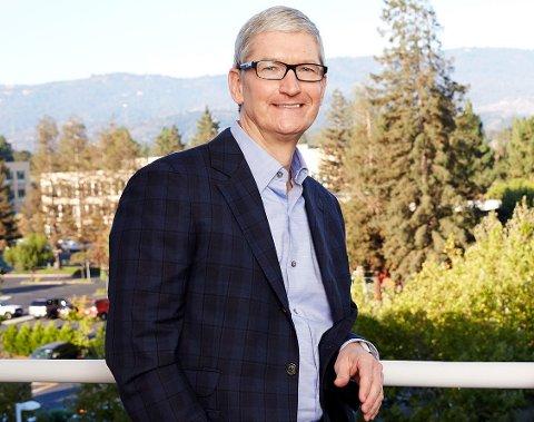 LANSERING: Tim Cook lanserer en nyhet for iPhone-entusiaster i Norge. (Foto: Apple Newsroom)