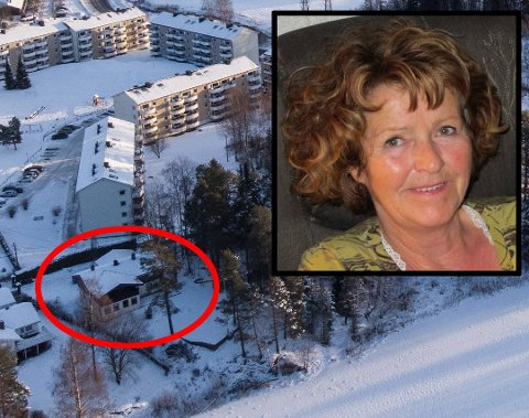 BORTFØRT: Anne-Elisabeth Falkevik Hagen (68) skal ha blitt bortført fra familins bolig her på Fjellhamar i Lørenskog 31. oktober i fjor.