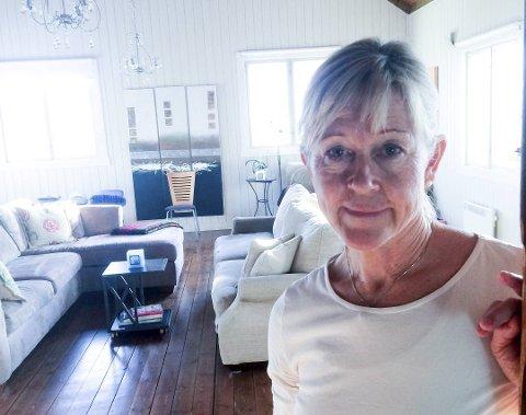 Marina Wedenberg har leid ut huset sitt i ti år, men aldri opplevd å komme hjem til huset sitt slik det så ut da hun kom hjem mandag Foto: PRIVAT