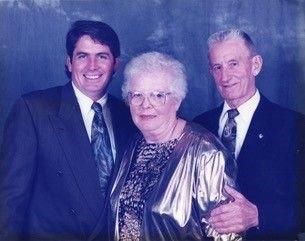 Brooklyn-familien Harald (f.v.), Lillian og Finn Gjertsen.