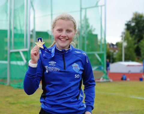 GULL: Sofie Overland markerte seg til gangs da hun deltok i Lerøy-lekene for første gang. Foto: Svein Halvor Moe